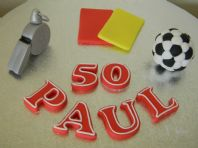 Football Referee Set Cake Toppers